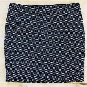 💙Cynthia Rowley skirt navy/white dot pencil skirt